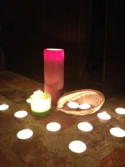 Candle light and shells were important elements in the ceremony.