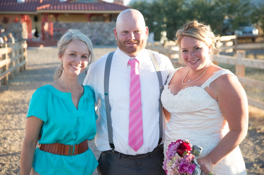 "Jake and Sarah's words were ""fun, lighthearted, family important, true to our values"" (photo by Neal Krueser)"